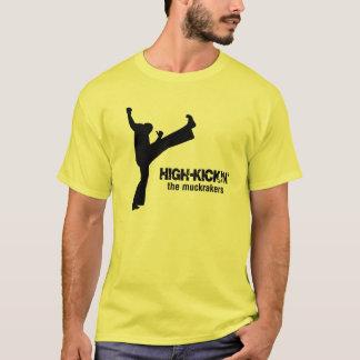 HIGH-KICKIN (Gelb/Schwarzes) T-Shirt