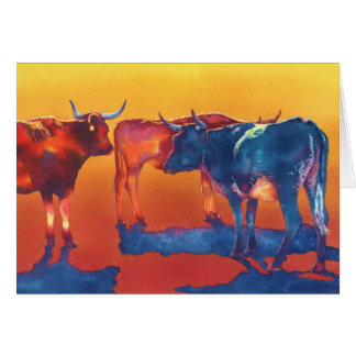 High Noon-Vieh Grußkarte