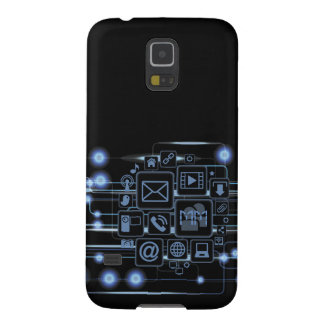 High-Teche Konzept-Initialen-Samsung-Galaxie S5 Samsung S5 Hülle