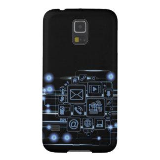 High-Teche Konzept-Initialen-Samsung-Galaxie S5 Samsung Galaxy S5 Hülle
