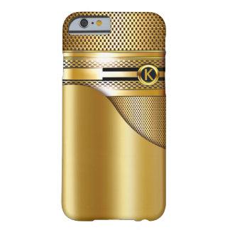 High-Teche Monogramm-Goldmasche durchlöcherte Gold Barely There iPhone 6 Hülle