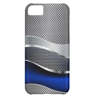 High-Techer futuristischer Maschen-Chrom-Saphir iPhone 5C Hülle
