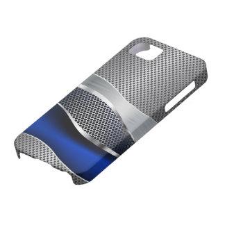 High-Techer futuristischer Maschen-Chrom-Saphir iPhone 5 Schutzhülle