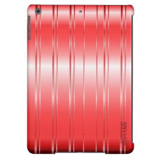 High-Techer metallischer roter Streifen-Entwurf iPad Air Hülle