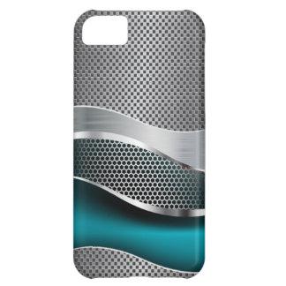 High-Teches futuristisches Maschen-Chrom-Pfau-Blau iPhone 5C Hülle