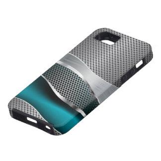 High-Teches futuristisches Maschen-Chrom-Pfau-Blau Schutzhülle Fürs iPhone 5