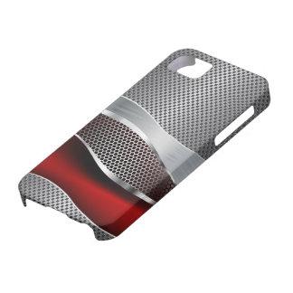 High-Teches futuristisches Maschen-Chrom-Rot iPhone 5 Case