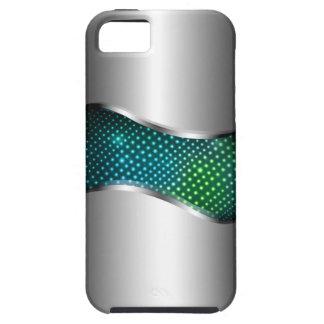 High-Teches metallisches Chrom-Sturzflugaqua iPhone 5 Schutzhüllen