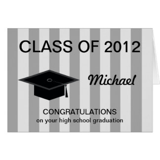 Highschool Abschluss-Karte -- Glückwünsche Mitteilungskarte