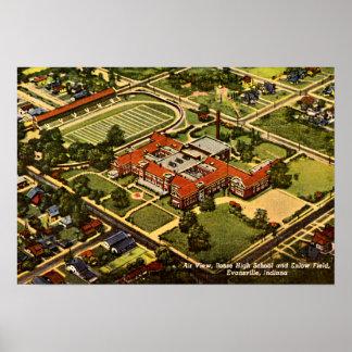 Highschool Evansvilles, Indiana Bosse Enlow Feld Plakate