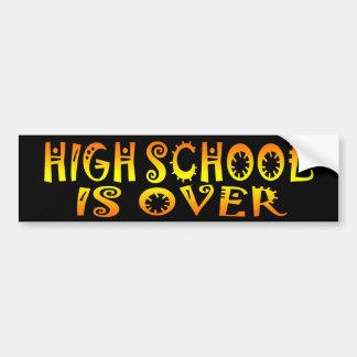 Highschool ist vorbei autoaufkleber