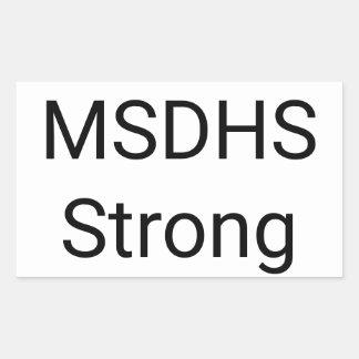 Highschool Marjory Stoneman Douglas stark Rechteckiger Aufkleber