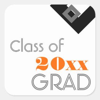 Highschool oder Uni-Abschluss-Geschenk-Umbau-Orang Aufkleber