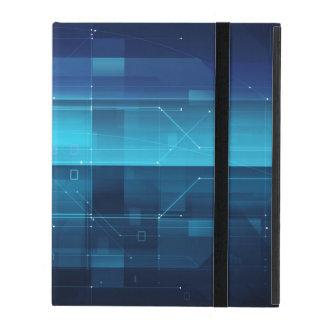 Hightech- digitaler Hintergrund iPad Etui