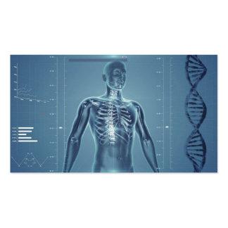 Hightech- Gesundheit blaues No.1 Visitenkarten