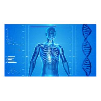Hightech- Gesundheit blaues No.2 Visitenkarten