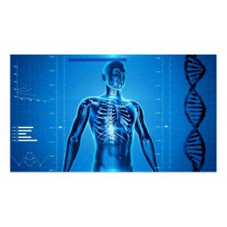 Hightech- Gesundheit blaues No.3 Visitenkarten