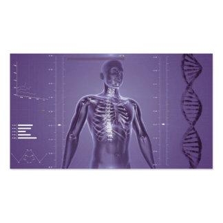 Hightechs-Gesundheit lila Visitenkartenvorlage