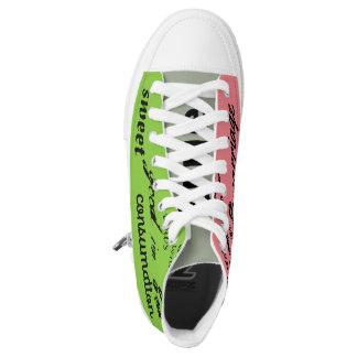 hightop Turnschuhe der grünen und rosa Hoch-geschnittene Sneaker
