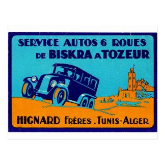 Hignard Frere Tunis Retro Aufkleber Postcatd Postkarte