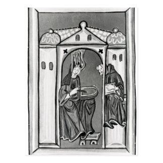 Hildegard von Bingen Postkarte