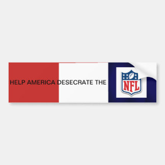 Hilfe Amerika entheiligen den NFL Autoaufkleber