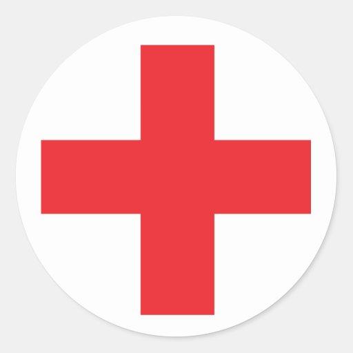Hilfe-Ausrüstungs-Zeichen Runde Sticker