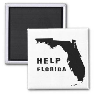 Hilfe Florida nach Hurrikan Irma Quadratischer Magnet