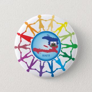 Hilfe Haiti 2 Runder Button 5,1 Cm