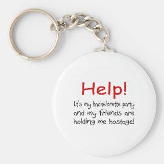 Hilfe! (Junggeselinnen-Abschied) Standard Runder Schlüsselanhänger