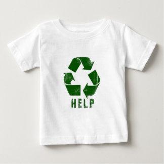 Hilfe recyceln (Grün) Baby T-shirt