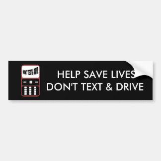 Hilfe retten die Leben tun nicht Text und Autoaufkleber