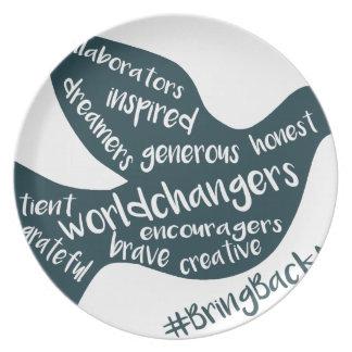 Hilfe wachsen die Bewegung zum #BringBackNice! Melaminteller