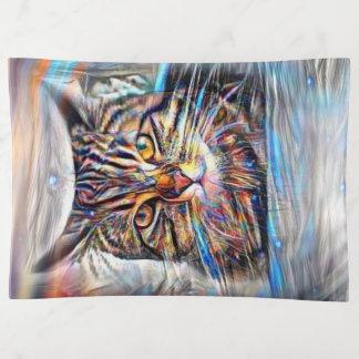 Hilflos Farbin der abstrakten Revolutions-Katze Dekoschale