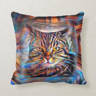 Hilflos Farbin der abstrakten Revolutions-Katze Kissen