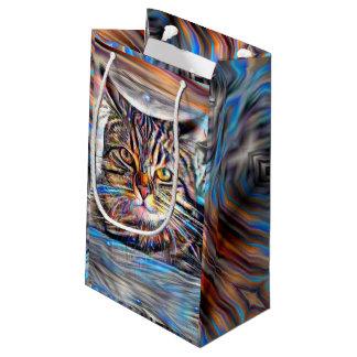 Hilflos Farbin der abstrakten Revolutions-Katze Kleine Geschenktüte