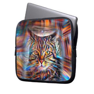 Hilflos Farbin der abstrakten Revolutions-Katze Laptopschutzhülle