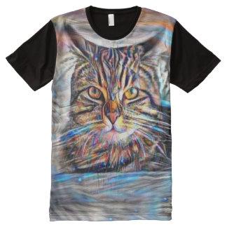 Hilflos Farbin der abstrakten Revolutions-Katze T-Shirt Mit Bedruckbarer Vorderseite