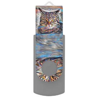 Hilflos Farbin der abstrakten Revolutions-Katze USB Stick