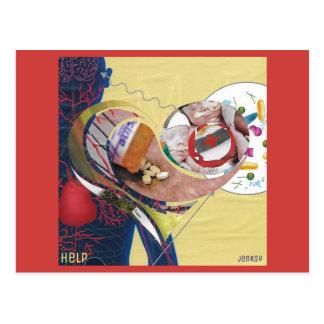 """""""Hilfs"""" Postkarte"""