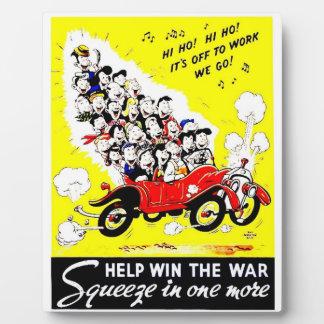 Hilfsgewinn die Kriegs-Foto-Plakette Fotoplatte