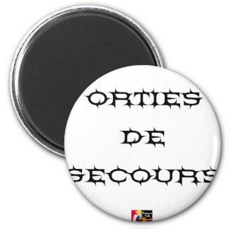 Hilfsnesseln - Wortspiele - Francois Ville Runder Magnet 5,1 Cm