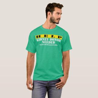 Hilfsniere benötigt - Männer dunkel T-Shirt