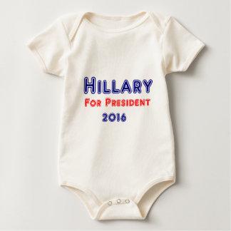 Hillary Clinto für Präsidenten Baby Strampler