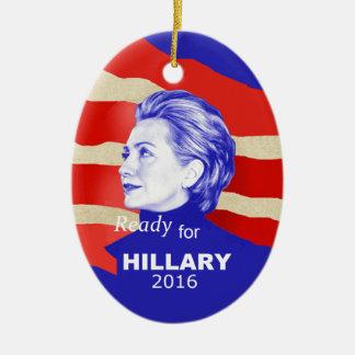 Hillary Clinton 2016 Ovales Keramik Ornament