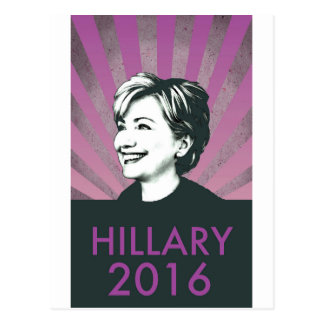 Hillary Clinton 2016 Postkarte