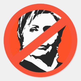 Hillary Clinton 2 Runder Aufkleber