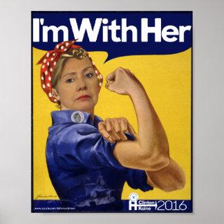 Hillary Clinton bin ich mit ihr! Poster
