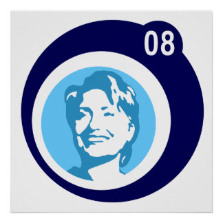 Hillary Clinton: blaue Blasen: Poster
