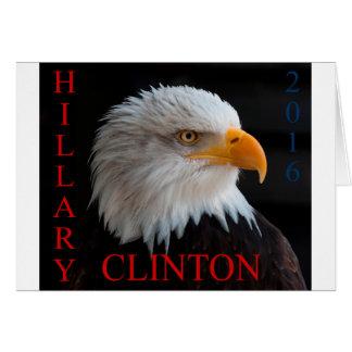 Hillary Clinton Eagle Grußkarte